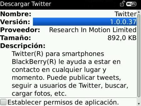 Twitter oficial para BlackBerry ya disponible para su descarga
