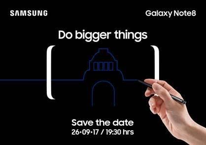 Galaxy Note 8 Lanzamiento Mexico 26 Septiembre 2017