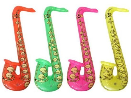 Saxofones hinchables