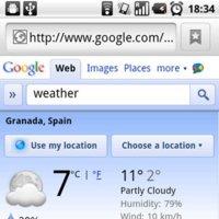 Google introduce una llamativa aplicación meteorológica en su buscador web móvil