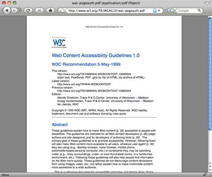 Abre documentos PDF dentro de Firefox 3 en Mac