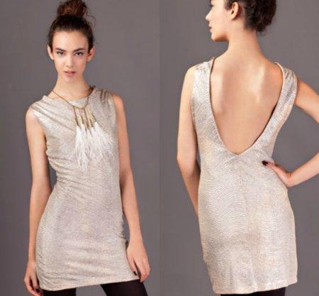 vestidos stradivarius metal