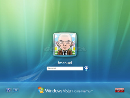 Pantalla de inicio de Windows Vista