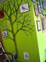 Una buena idea: un árbol hecho con hilos