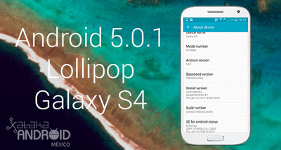Android 5.0.1 Lollipop oficial para el Galaxy S4