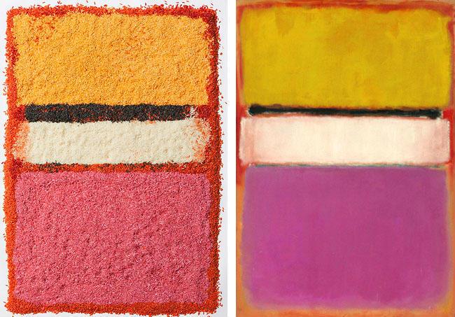 Reinterpretando el arte de Rothko con arroz