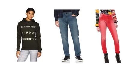 Chollos en tallas sueltas de pantalones y sudaderas de marcas como Under Armour, Levi's, Lee o Desigual en Amazon