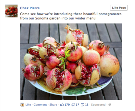 Facebook mostrará actualizaciones patrocinadas de una marca aunque el usuario no sea fan de ella