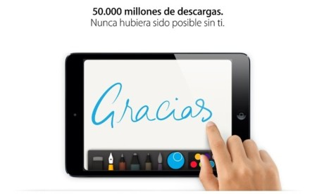 Apple anuncia la descarga 50.000 millones y al ganador de la tarjeta regalo de 10.000 dólares
