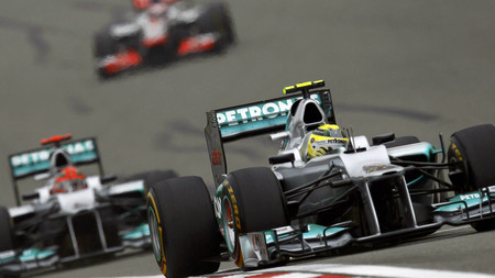 Rosberg Schumacher China Formula 1 2012