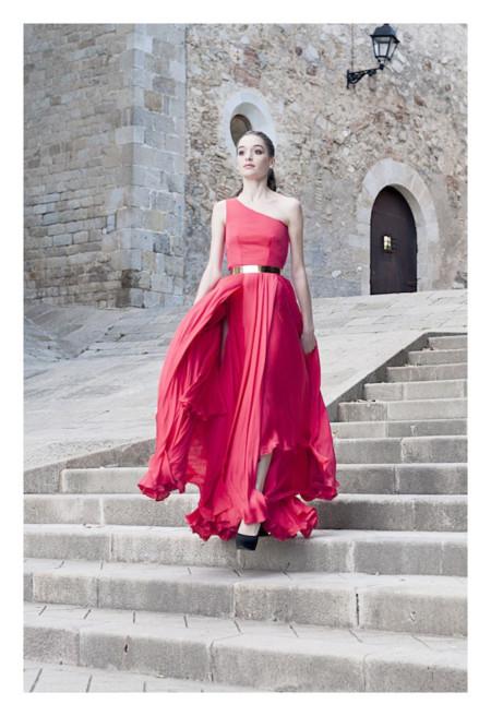 vestido rojo cristina tamborero