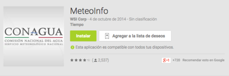 Meteo Info Conagua App