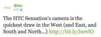 HTC prueba que la cámara de su Sensation es más rápida que la del Nokia N9