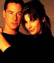 Keanu Reeves y Sandra Bullock después de 'Speed'
