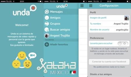 Unda, la aplicación de videomensajería mexicana llega a Android