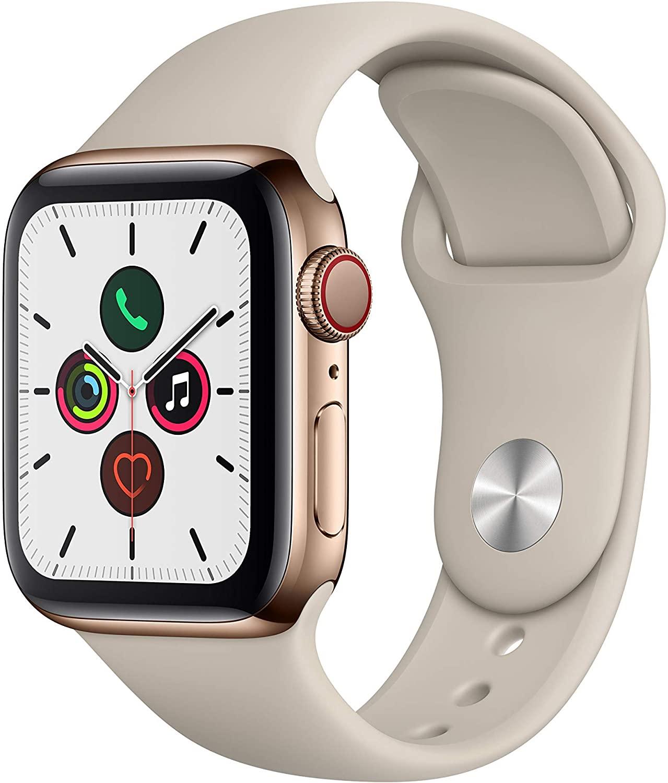 Apple Watch Series 5 (GPS + Cellular, 40 mm) Acero Inoxidable en Oro