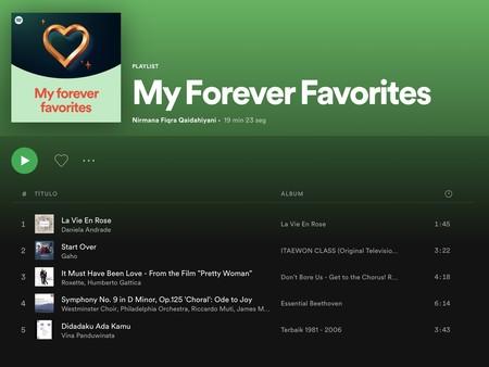 Así es 'Mis eternos favoritos', lo nuevo de Spotify para compartir en redes sociales nuestras canciones de siempre