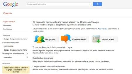 Los Grupos de Google también renuevan su apariencia