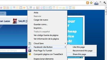 """Facebook lanza el botón """"Me gusta"""" como extensión de Chrome"""
