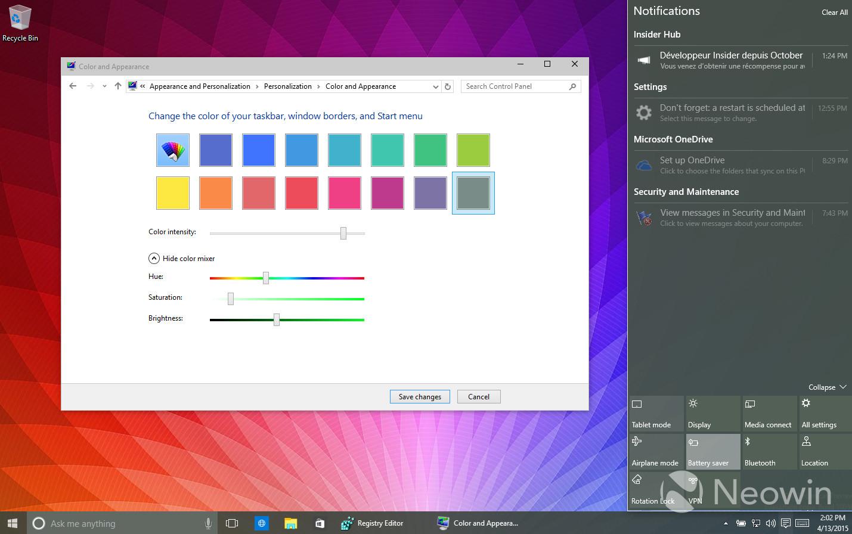 Foto de Temas de colores en Windows 10 build 10056 (16/16)