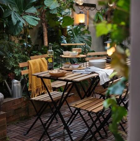 Mesa y silla de exterior de Ikea
