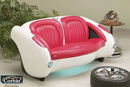 Siéntate en la trasera de un 1957 Chevrolet Corvette