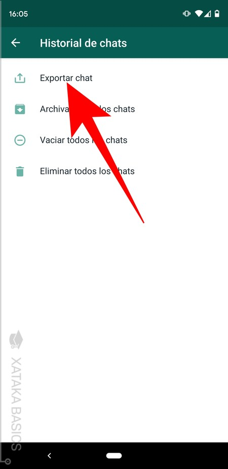 Exportar Chat