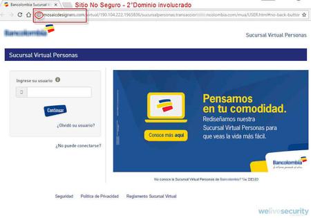 Correo falso de Bancolombia