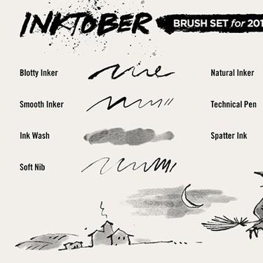 Adobe le tira la caña a Jake Parker y diseña pinceles gratuitos para los ilustradores del Inktober