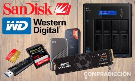 Ofertas en almacenamiento Western Digital y SanDisk en Amazon: ahorra mucho dinero comprando servidores NAS, discos duros SSD, pendrives o tarjetas de memorias con estos precios