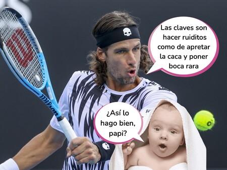 ¡Papá, quiero ser tenista! Feliciano López se lleva a su hijo Darío al trabajo, pero es Sandra Gago a la que se le cae la baba mirándole