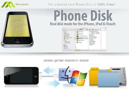 Phone Disk de Macroplant. Usa tu iPhone, iPod o iPad como dispositivo de almacenamiento