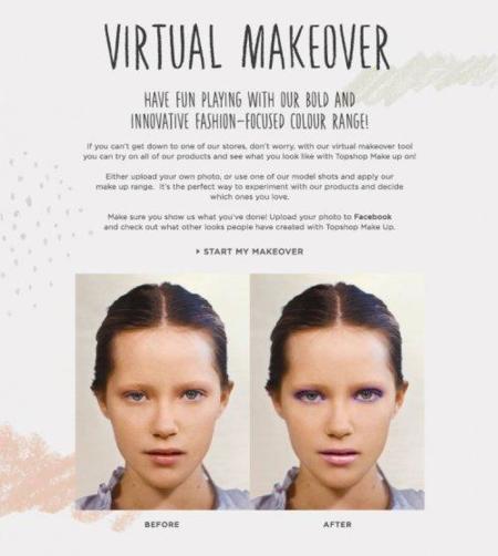 Si no sabes cómo maquillar tu rostro, Top shop ha creado la aplicación perfecta para ti