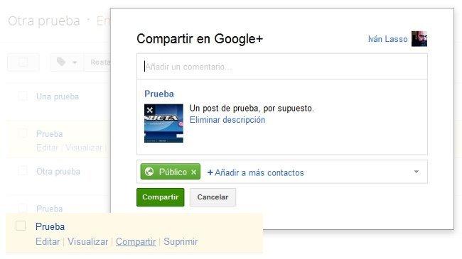 Comparte en Google+ los posts de tu blog en Blogger apenas los publiques