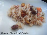Ensalada de arroz y frutos secos. Receta