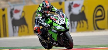 Superbikes Aragón 2012: Tom Sykes y la Kawasaki voladora suman su sexta Superpole. Jules Cluzel pole es Supersport