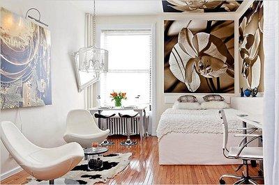 Una buena idea: delimitar espacios con cuadros en el techo