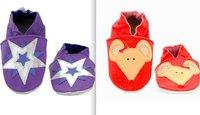 Babuchitas, bonitas zapatillas de cuero para bebés