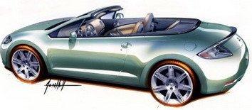 Mitsubishi Eclipse Spyder 2007 y Concept-CT