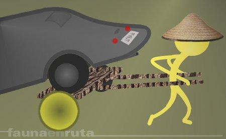 Cómo robar un coche en medio de un atasco 'made in China'