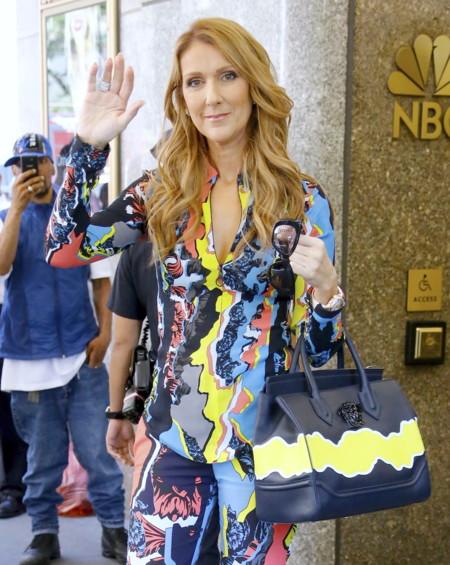 Celine Dion se da al color de la mano de Versace. ¿Os convence el nuevo estilo de la estrella de la canción?