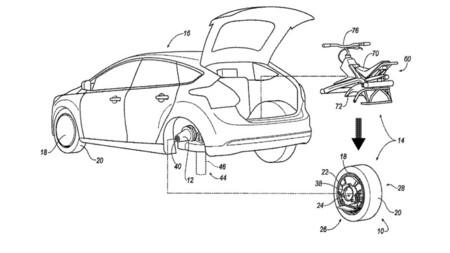 Ford registra patente para una llanta desmontable que se convierte en moto