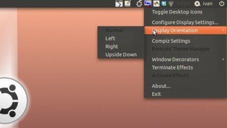 Accede a Compiz rápidamente y cambia la orientación de la pantalla en Linux con DisPlex