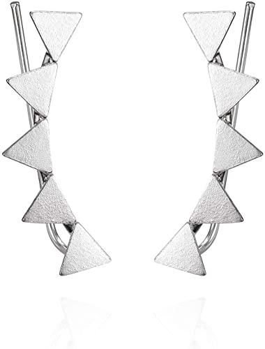 Pendientes Trepadores Mujer Plata De Ley 925 Pendientes Mujer Plata Ear Cuffs perfectos Para Hacer un Regalo Original.