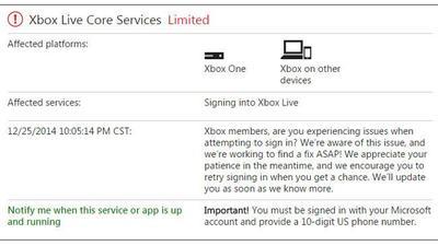 Un ataque de DDoS afecta a Xbox Live y a otras plataformas de juegos en plenas navidades [ACTUALIZADA]