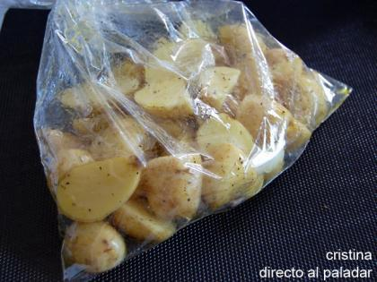Patatas asadas con vinagreta de mostaza de higos