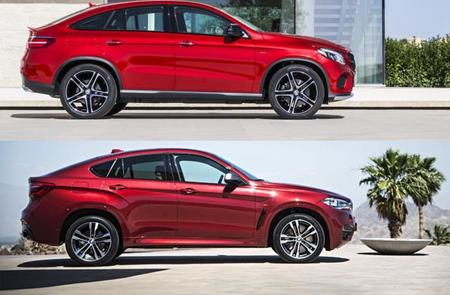 Comparativa visual entre el Mercedes-Benz GLE Coupé y el BMW X6