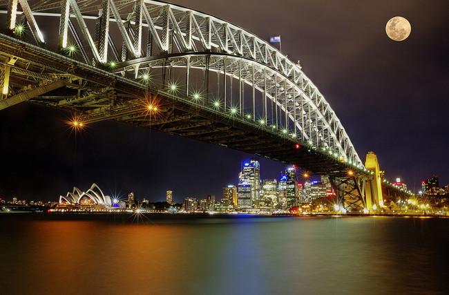 Superluna sobre Sydney