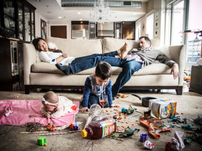 21 divertidas fotografías que muestran el lado menos amable de tener hijos