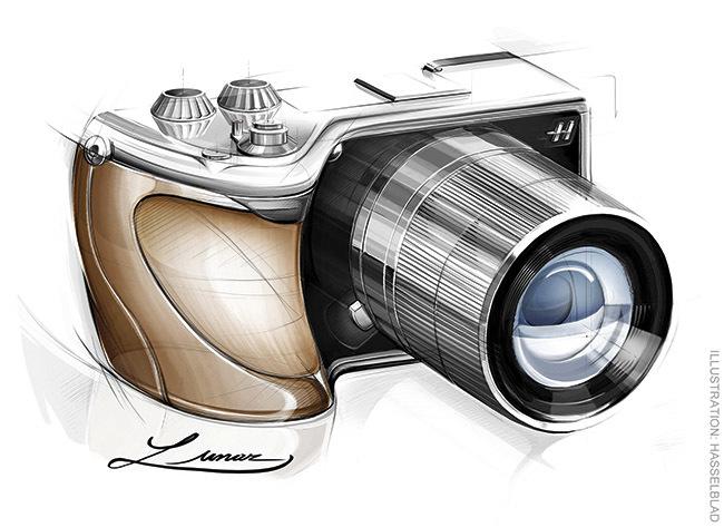 Hasselblad Lunar - dibujo